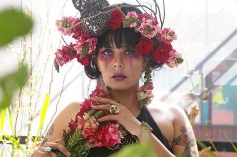 Floral design Flores para Catrina mexican catrina