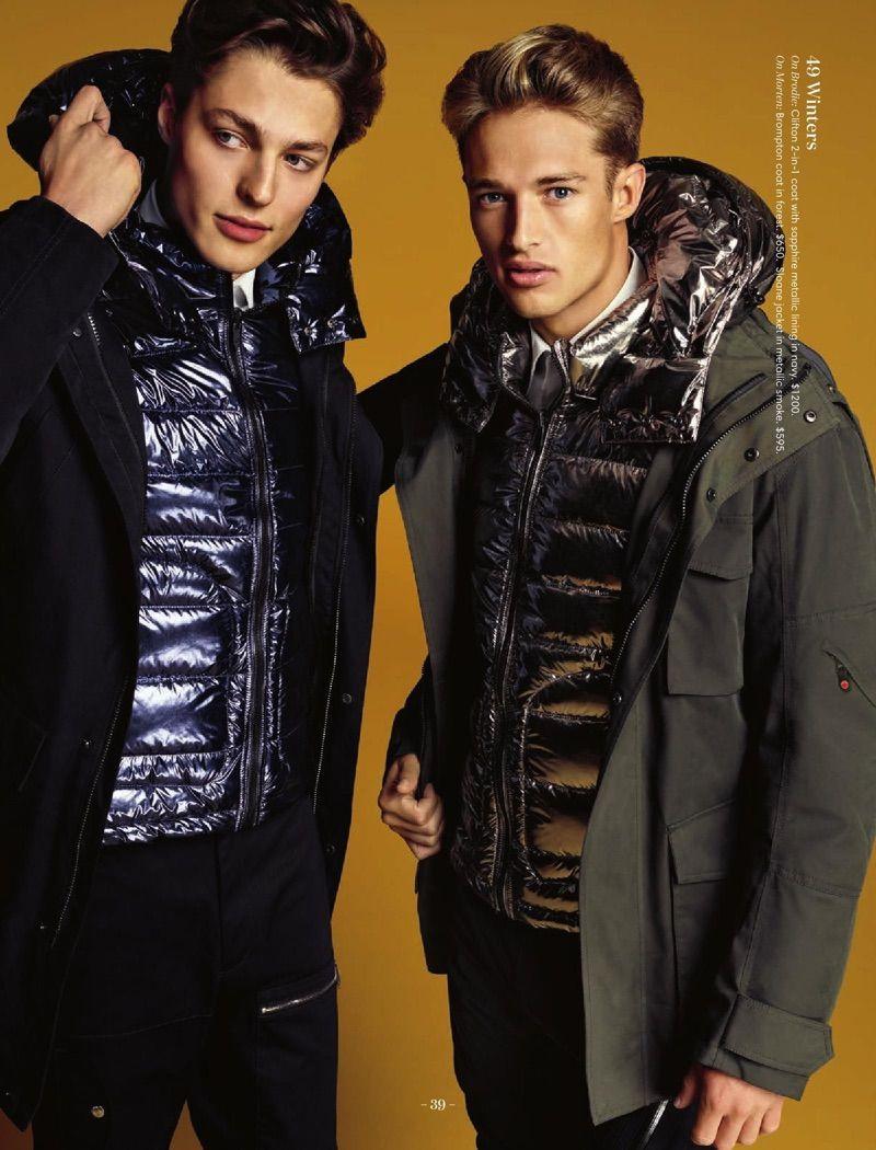 Brodie Scott Morten Nielsen Don Outerwear For Holt Renfrew Holiday Edit Mens Catalogue Fashion Mens Jackets [ 1050 x 800 Pixel ]