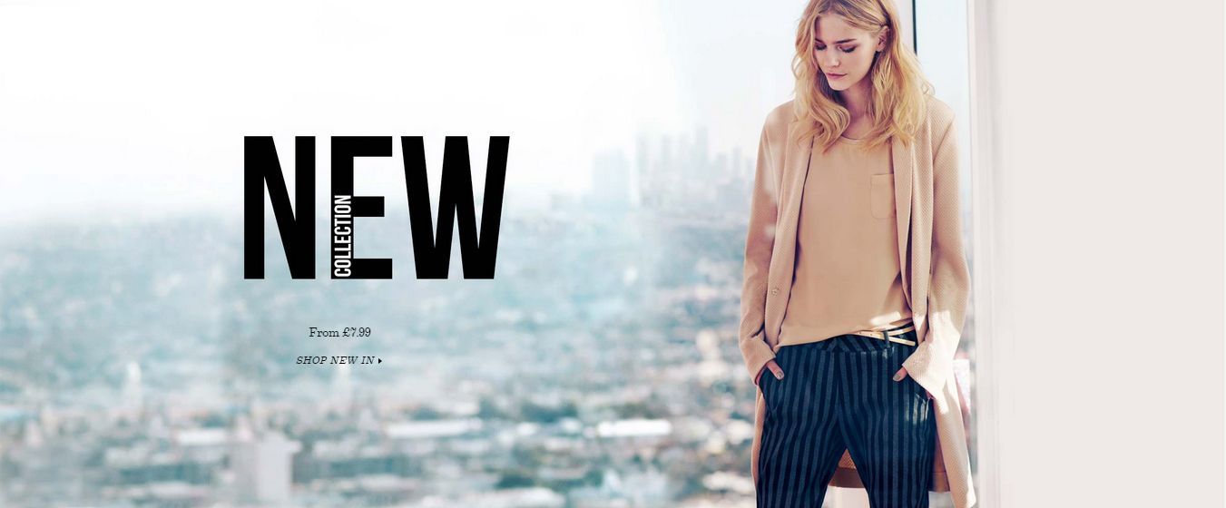 1ee89379d680e New Collection Web Banner from New Look  Web  Digital  Banner  Online   Marketing  Retail  Fashion  New  Arrivals  Collection