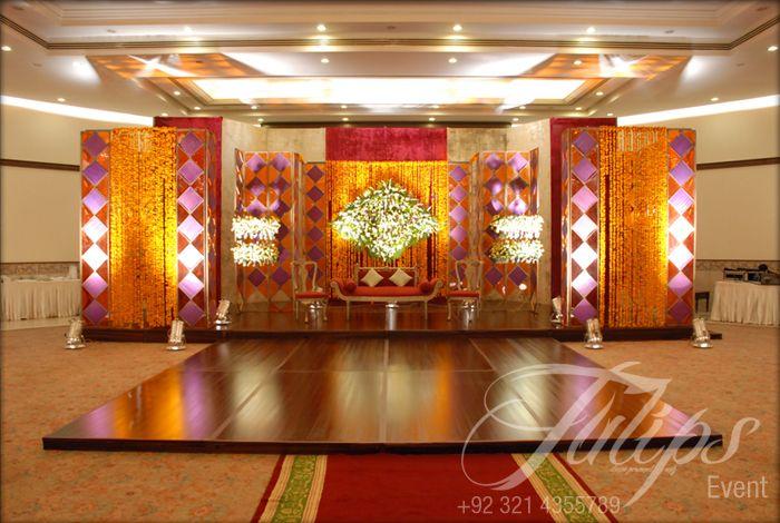 Mehndi Decoration Karachi : Tulips event best pakistani wedding stage decoration