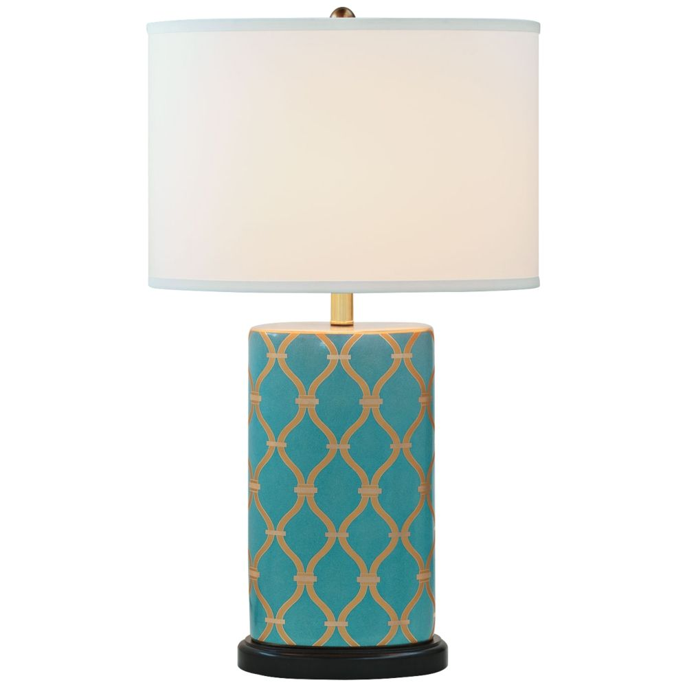 Port 68 Mateo Peacock Blue Porcelain Table Lamp - Style # 8G035