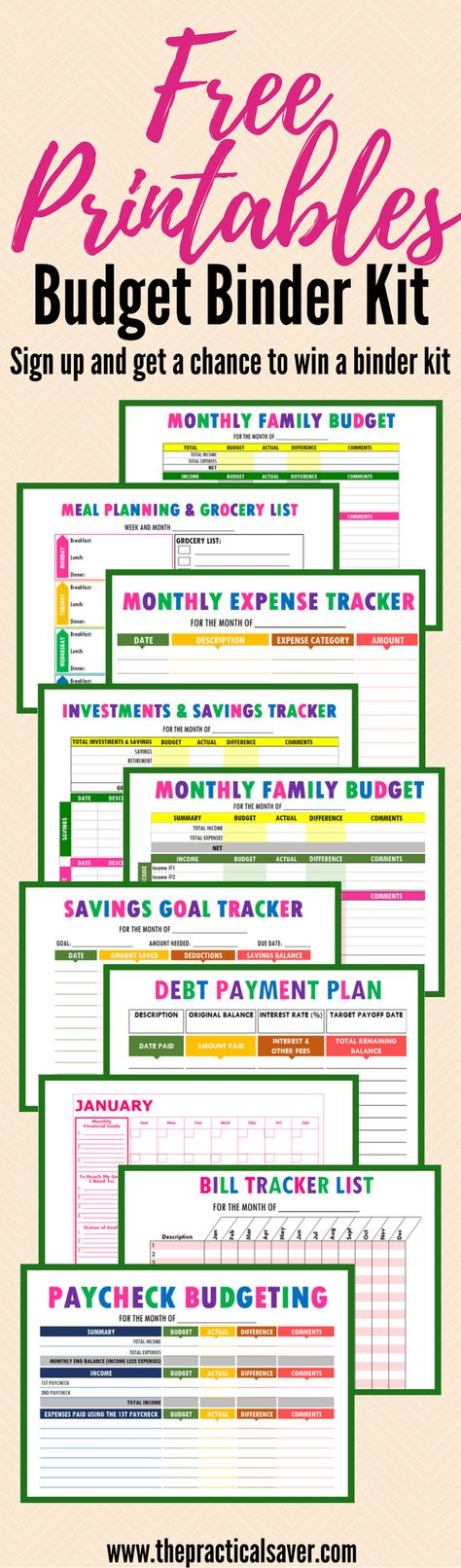 Budget Binder Printables  Budget Calculator Monthly Budget And