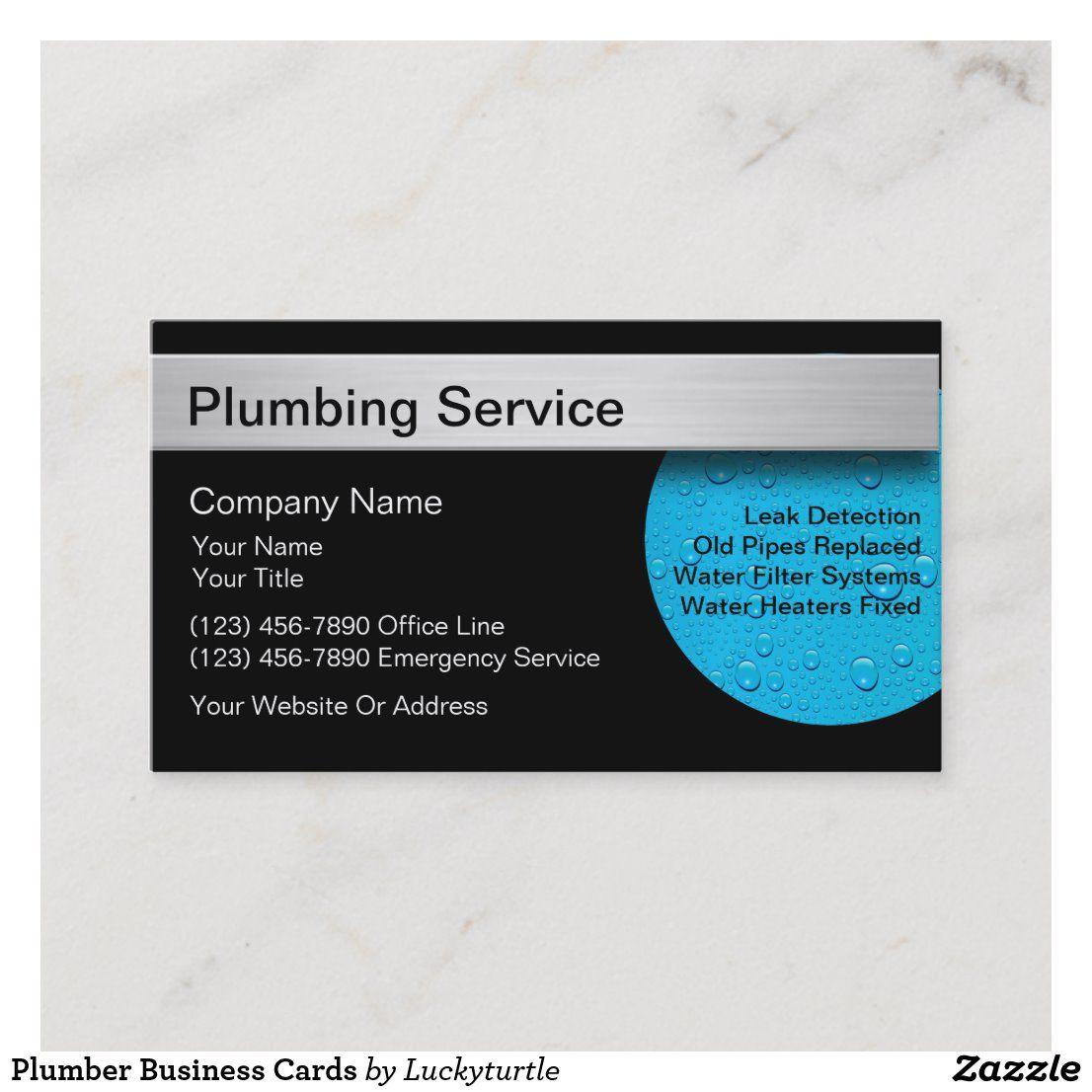 Plumber Business Cards Zazzle Com Plumber Business Cards Modern Business Cards Design