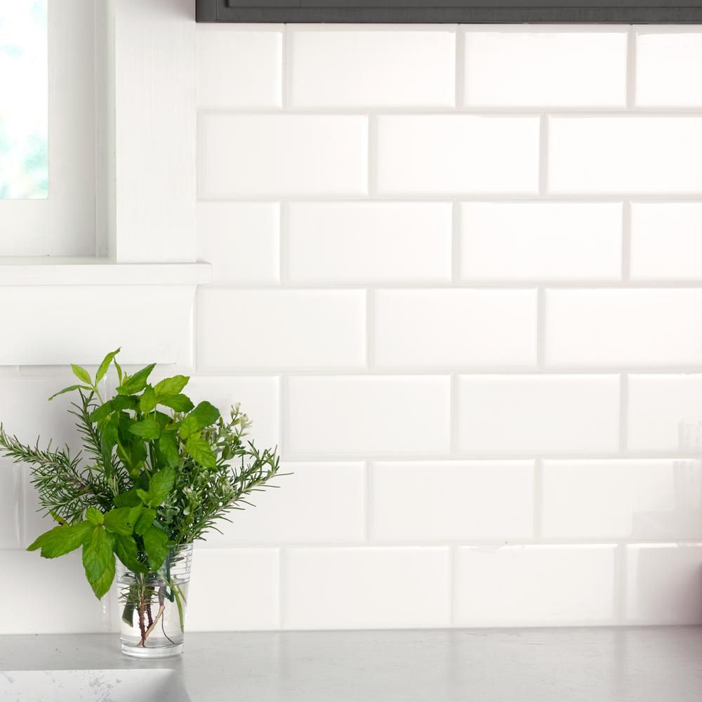 Daltile Re Bright White 3 In X 6