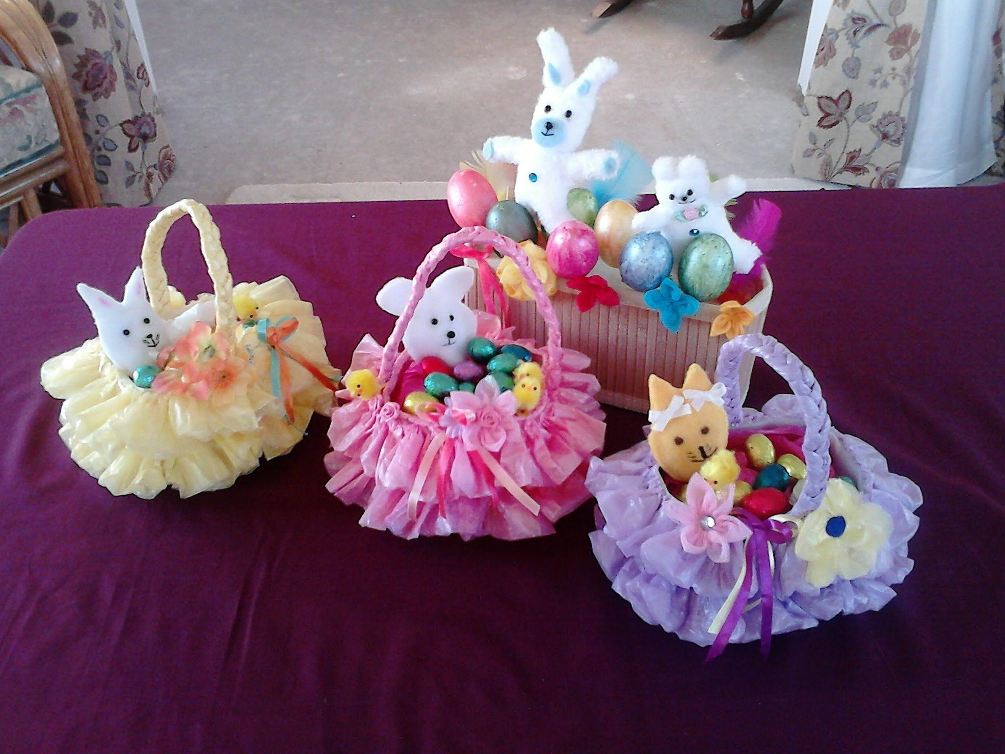 Cesta de Pascua hecho a mano de la bolsa de plástico reciclado y la botella wonderfuldiy1 maravilloso bricolaje cesta Hermosa Pascua de reciclado bolsa de plástico y botellas