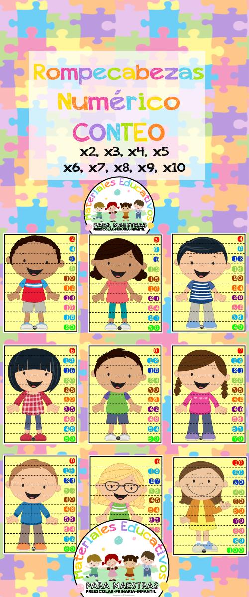 Rompecabezas De Números Para Conteo Puzzle De Tablas De Multiplicar P Rompecabezas De Números Actividades Para Pintar Para Niños Actividad Para Niños Pequeños