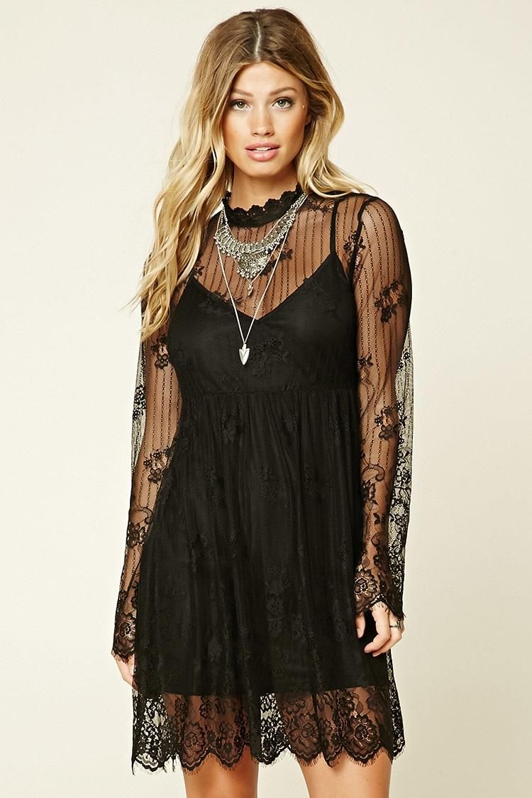 Contemporary Lace Skater Dress from Forever 21. Saved to