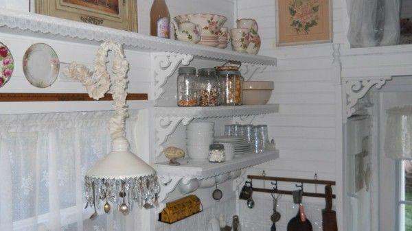 wohnideen kueche shabby chic ideen stauraum wandregale Küche Möbel
