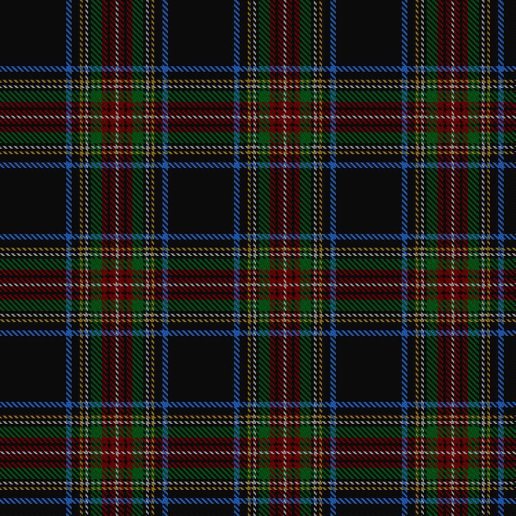 Stewart Black Tartan. Information at The Scottish Register of Tartans.