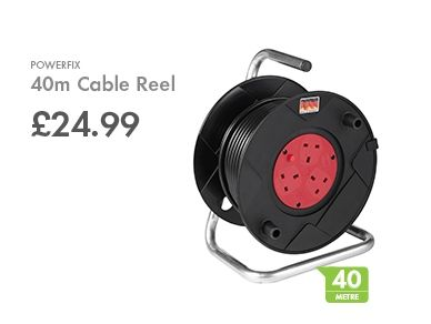 POWERFIX 40m Cable Reel Cable reel, Camping essentials, Lidl