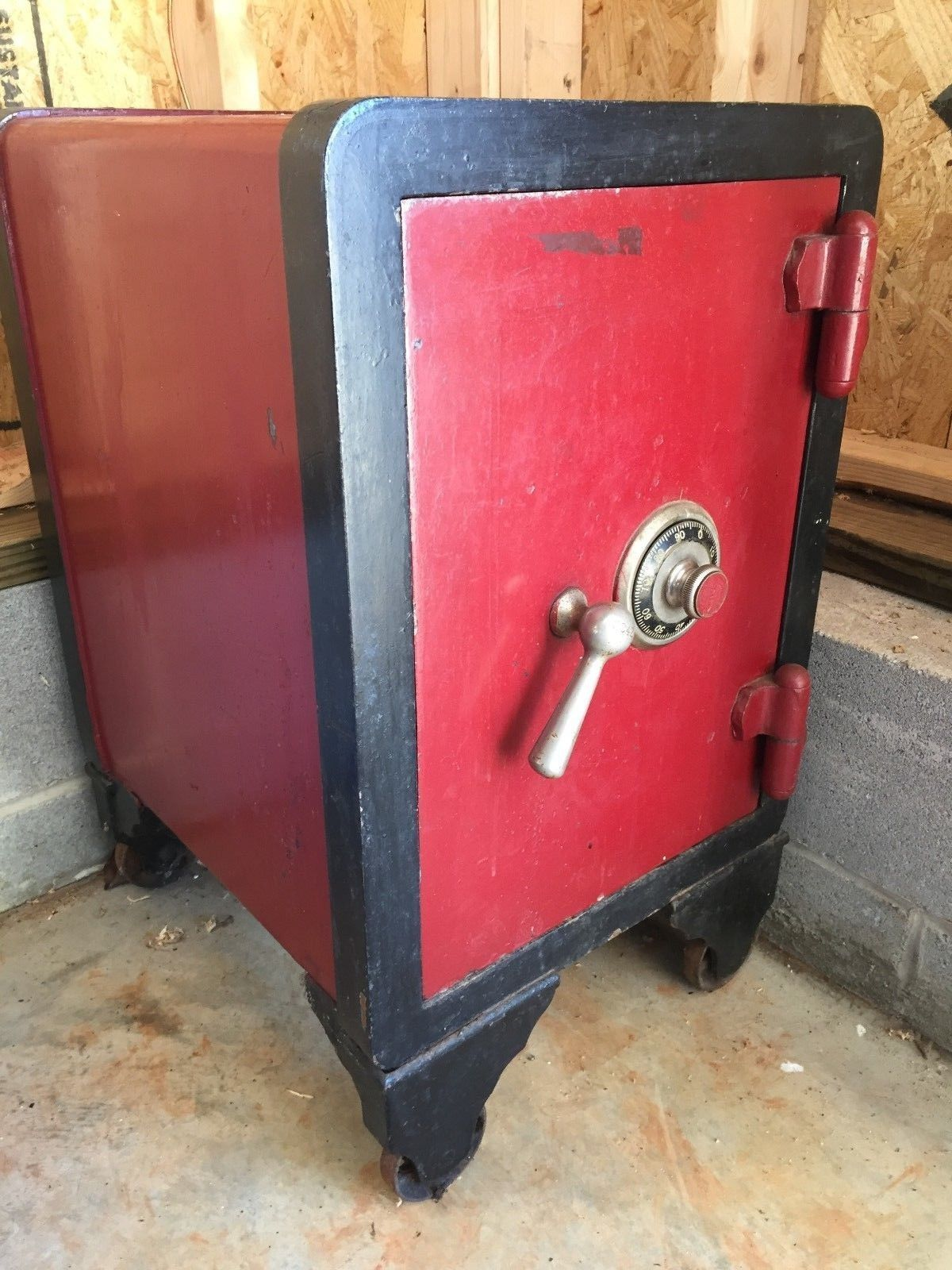Antique Combination Floor Safe from CARY SAFE CO of