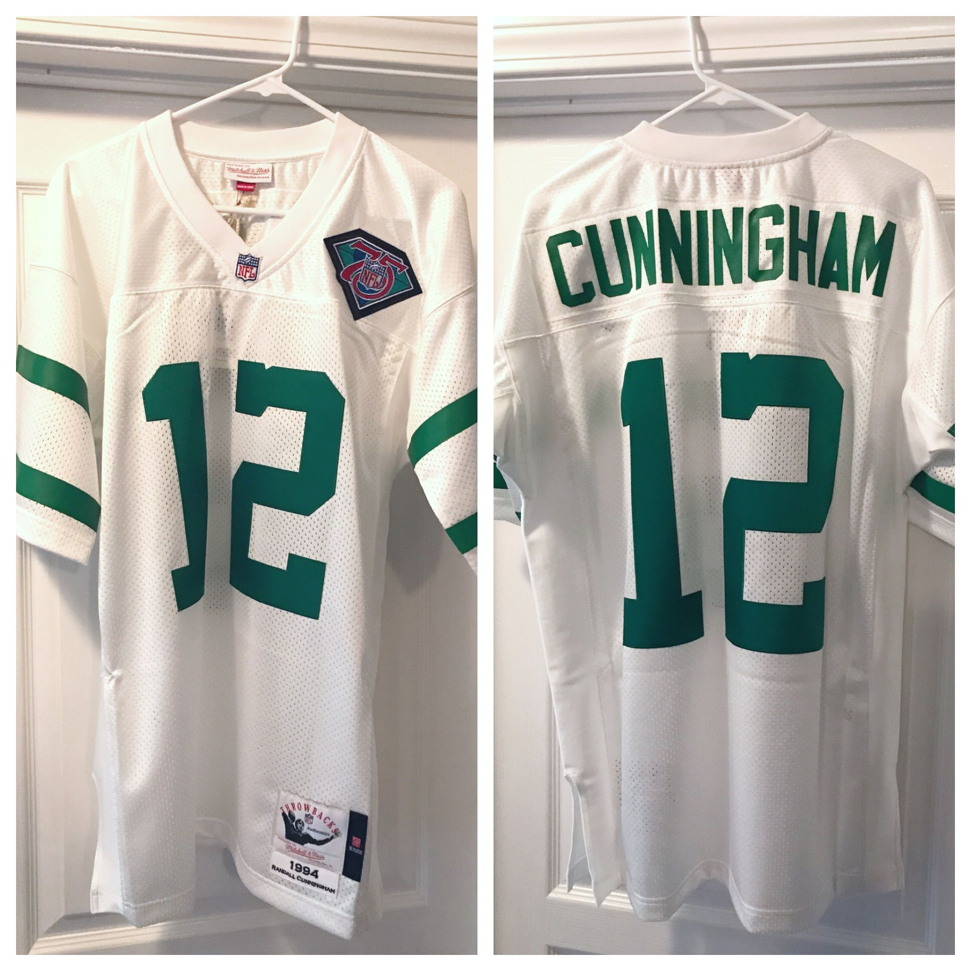 low priced 987cf c2de0 1994 Randall Cunningham Authentic Throwback, 2017 Mitchell ...