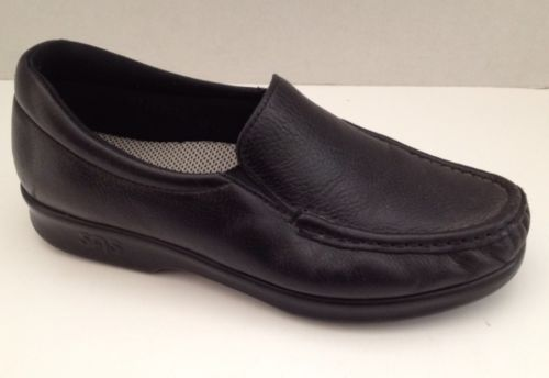 64a000ef04e0bc SAS Shoes Womens Size 6 Black Loafer Slip On Oxford Made in USA Leather  Tripad
