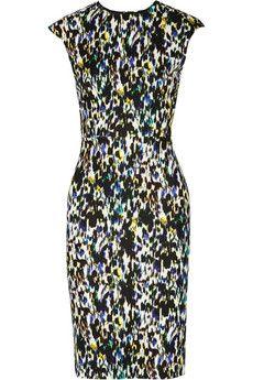 Erdem Analena printed stretch-ponte dress | NET-A-PORTER