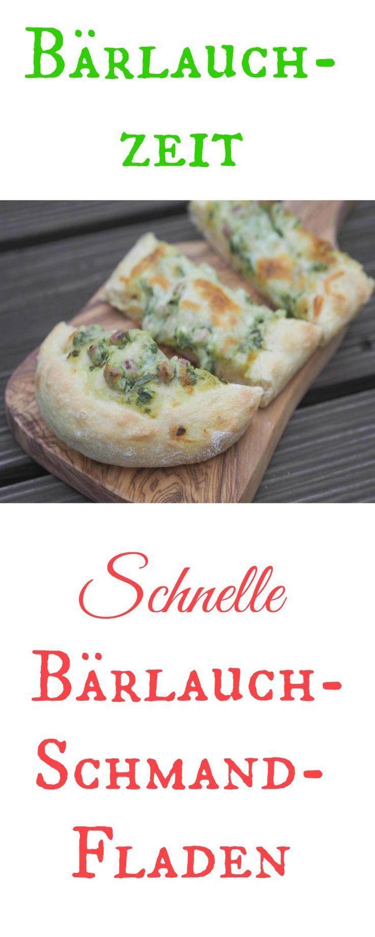 Photo of Quick wild garlic-sour cream flatbread – food & travel-b – garden plant ideas