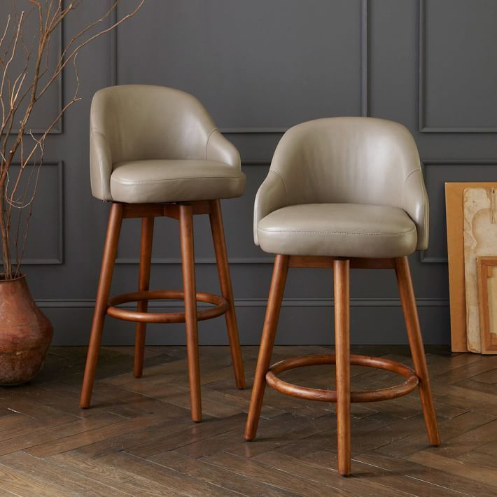 Saddle Leather Bar Counter Stools Modern Counter Stools