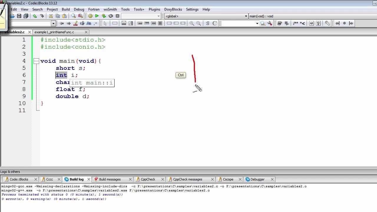 46abe95e2be C Programming Tutorial | Variable Definition vs Declaration & Initializa.