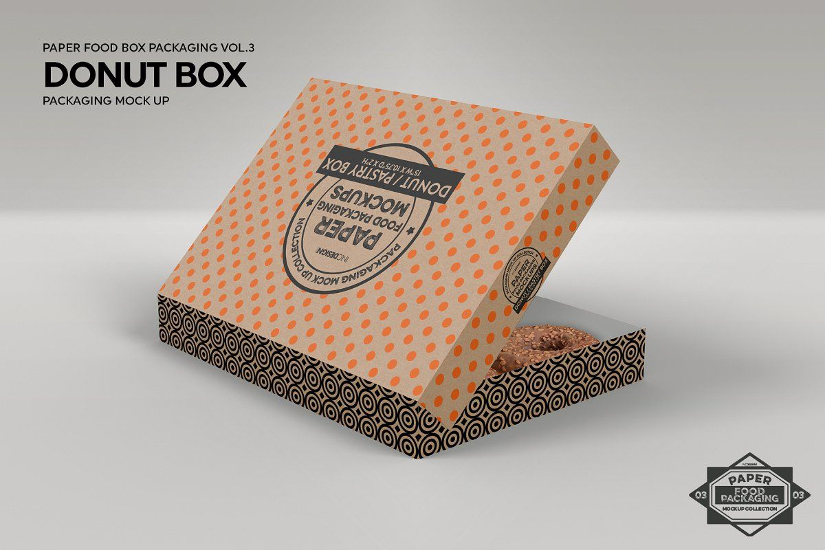 Download Donut Box Mockup Psd Yellowimages