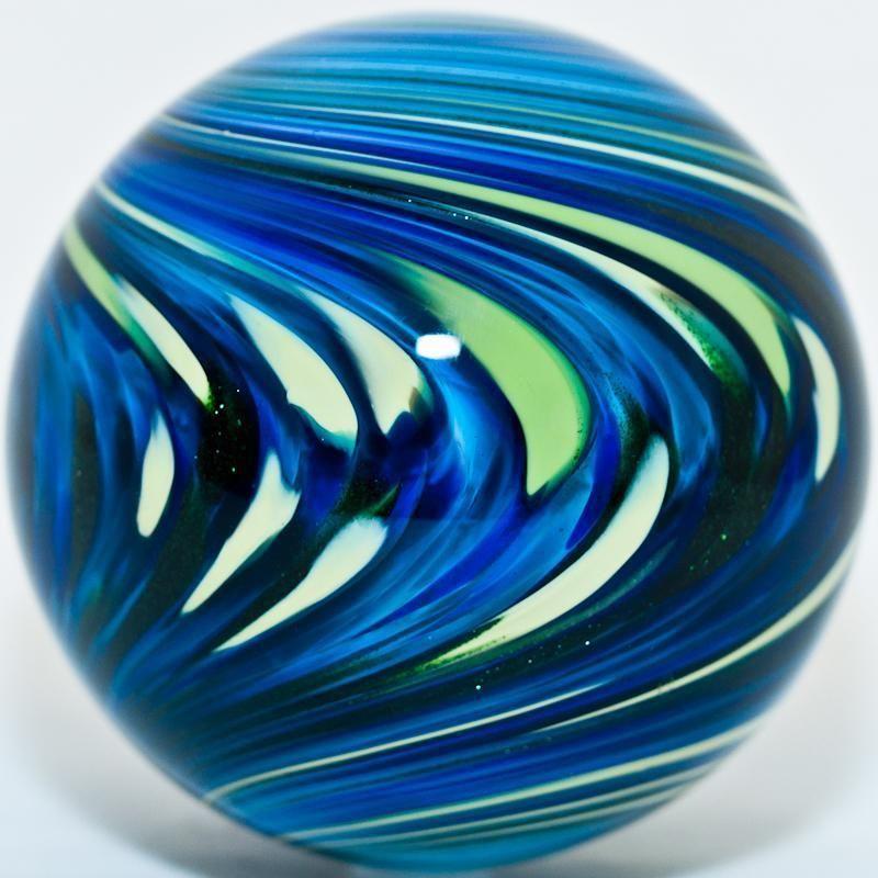 2 7 8 Glass Marble Mark Matthews Blueberry Swirl Marble Glass Marbles Glass Paperweights Marble