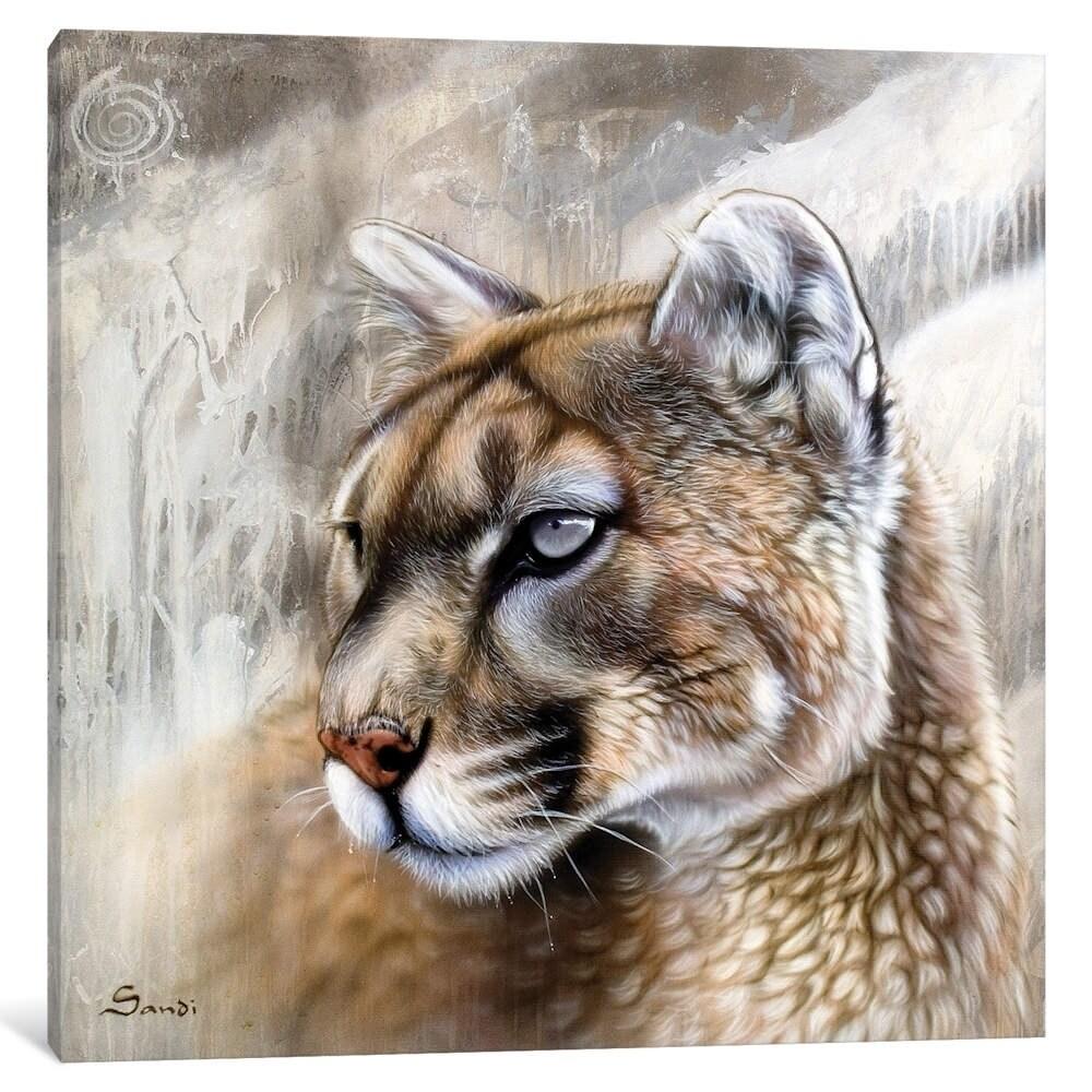 icanvas catamount by sandi baker canvas artwork art on icanvas wall art id=70917