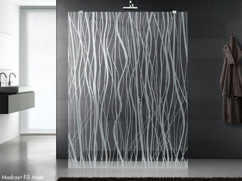 Crystal Shower Wall Panel Madras Fili Mate By Vitrealspecchi