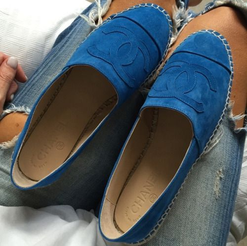 Blue Chanel suede. We're in love.