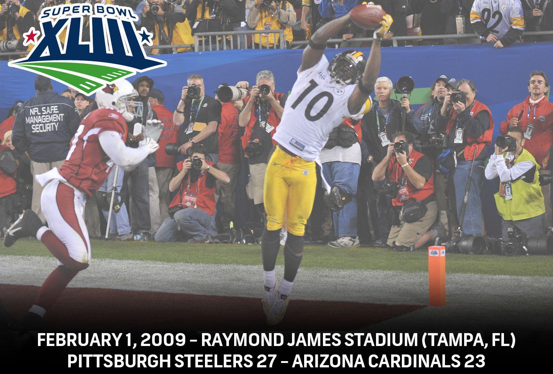 Super Bowl Xliii Pittsburgh Steelers 27 Arizona Cardinals 23 Nbcsports Steelers Super Bowls Nfl Football Teams Nfl Players