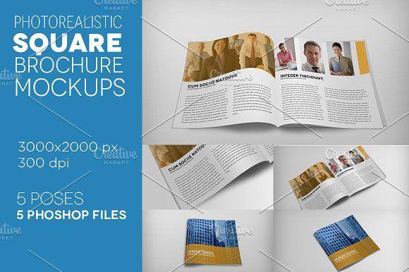 Premium Square Brochure Mockups A4 Brochure Templates Psd A4 Size