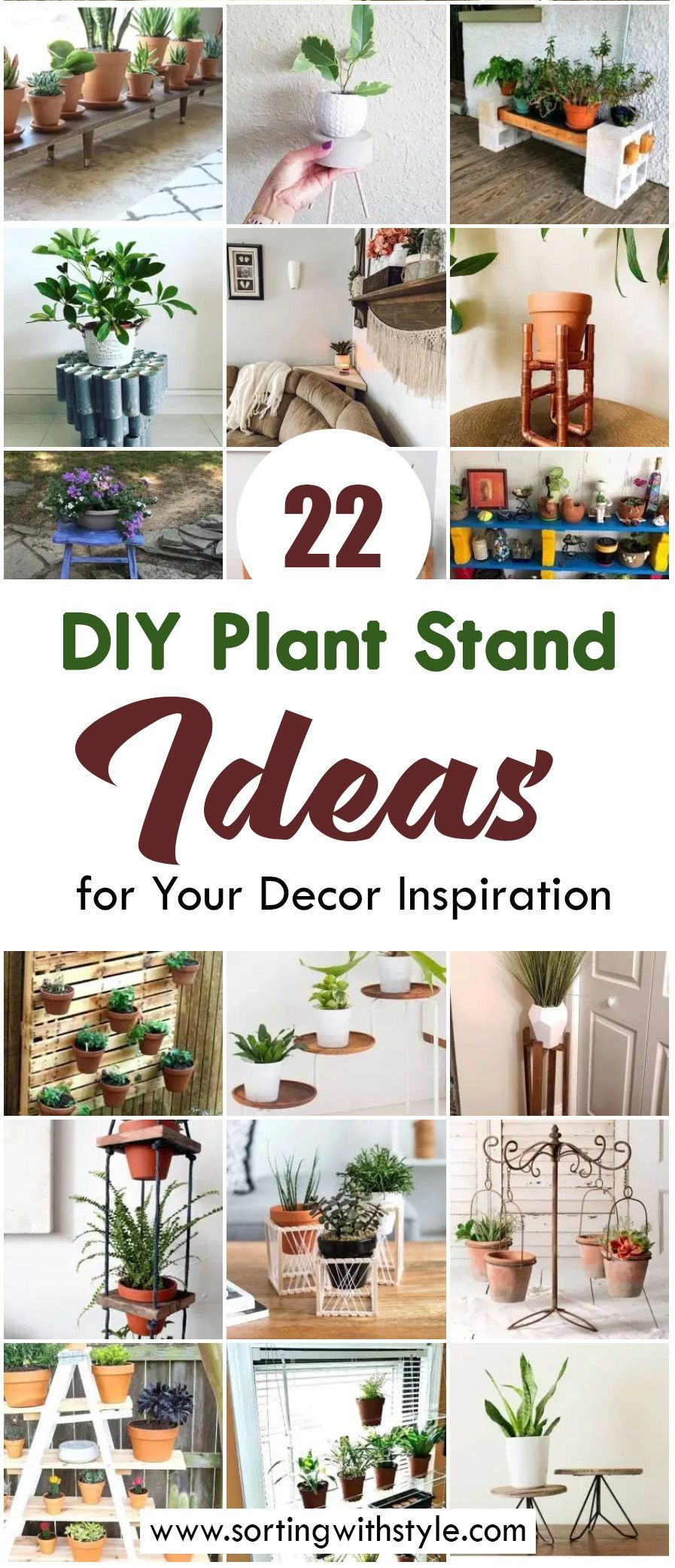 22 Easy & Creative DIY Plant Stand Ideas for Your Decor Inspiration #diyplantstand Simple, easy and creative DIY plant stand ideas for indoor and outdoor from woods, pipes and other materials // Upcycled DIY plant stands. Choose you favorite! #diy #plantstands #diyhomedecor #plants #diyplantstand