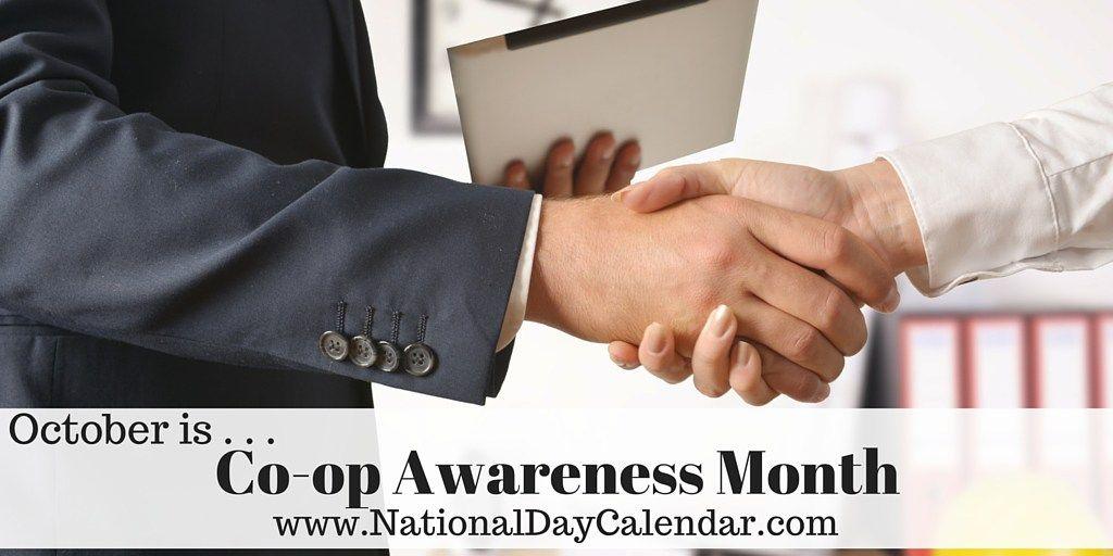 COOP MONTH October National Day Calendar Awareness