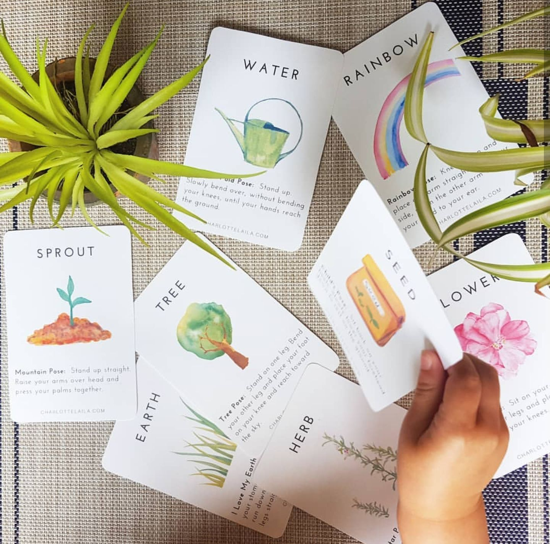 Garden Yoga Flashcards