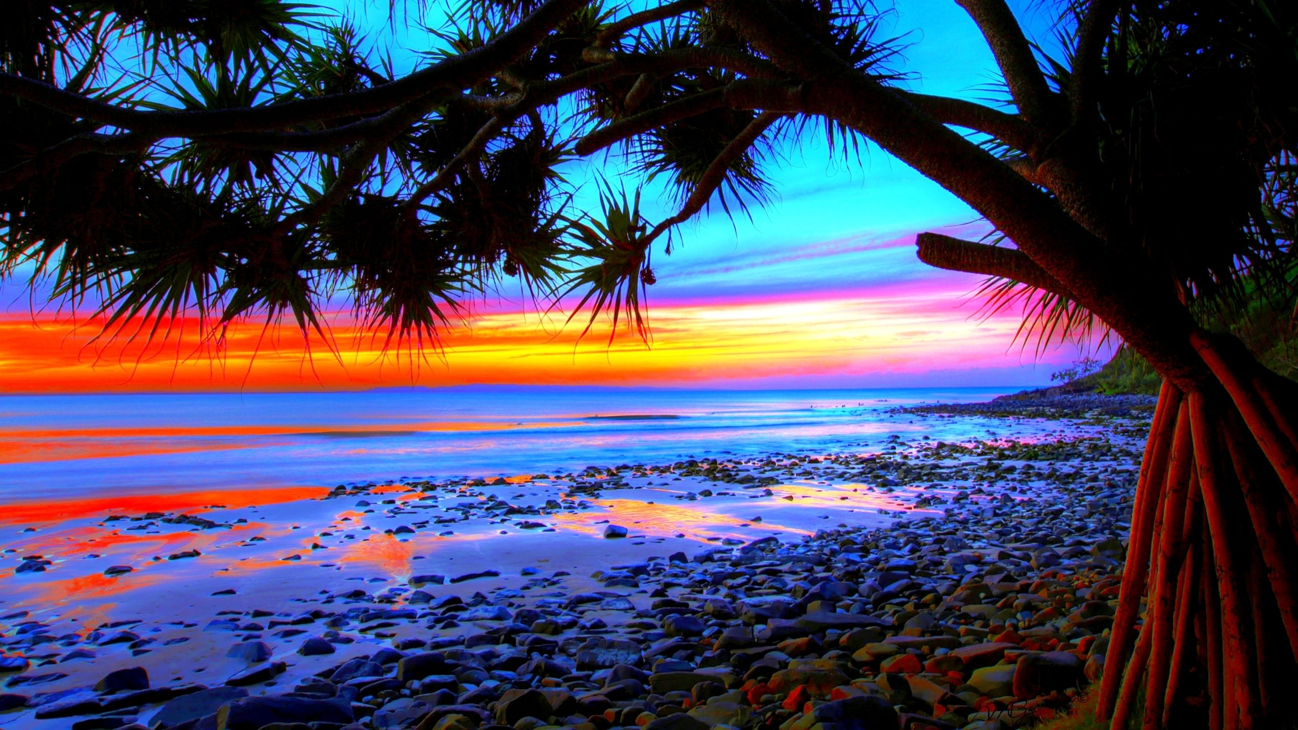 Pix For > Colorful Beach Sunsets Backgrounds Beach