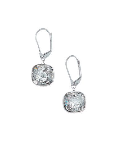Look what I found on #zulily! Silvertone Patina & Crystal Earrings Made With SWAROVSKI ELEMENTS #zulilyfinds
