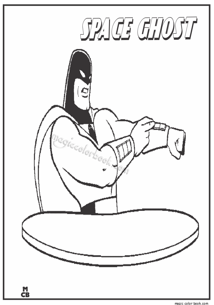 Pin by Magic Color Book on Space Ghost Disney coloring pages free ...