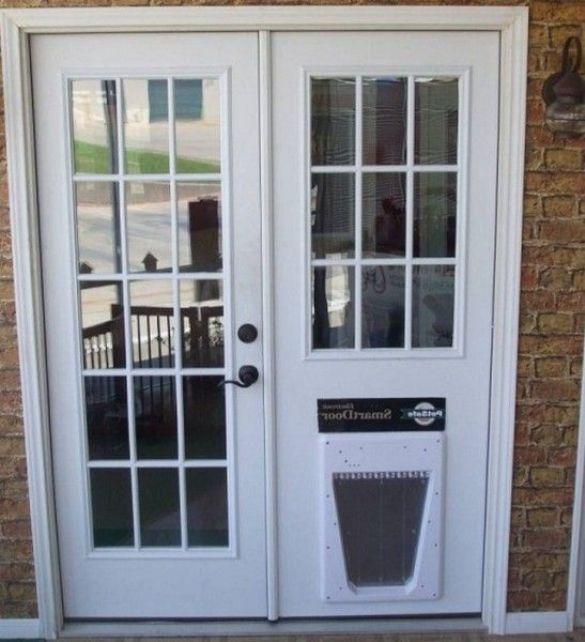 Doors Surprising French Doors With Dog Door Built In Pet