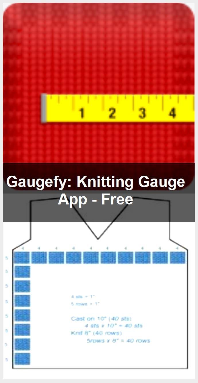 Gaugefy Knitting Gauge App  Free Gaugefy Knitting Gauge App  Free