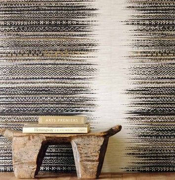 Tribal Natural Fiber Wallcovering Wallpaper Minneapolis By Vivid Interior Design Danielle Loven Wall Wallpaper Wall Coverings Mural Wallpaper