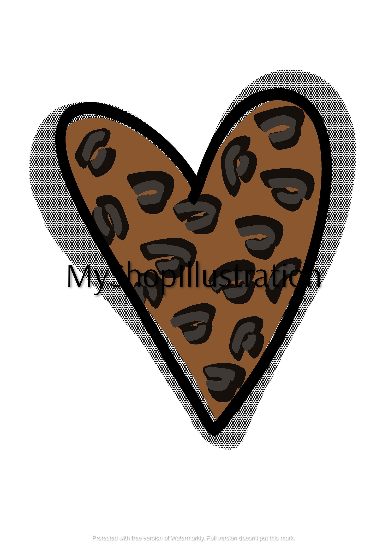 Heart Clipartheart Pngleopard Heart Clipartleopard Print Etsy Sun Clip Art Heart Clip Art Colorful Heart
