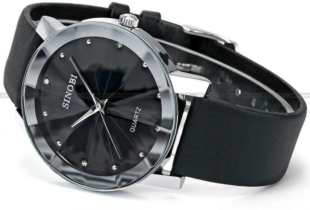 ساعة رجالية رسمية Sinobi الكترونيات ساعة سشعات ماركة سنوبى ساعةرجالية رسميةاسود جلد Samsung Gear Watch Leather Watch Leather