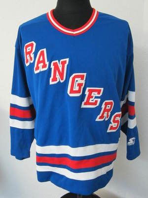 e2a3311d172afb Vintage New York Rangers Embroidered Team Logo Starter Hockey Jersey XL |  eBay