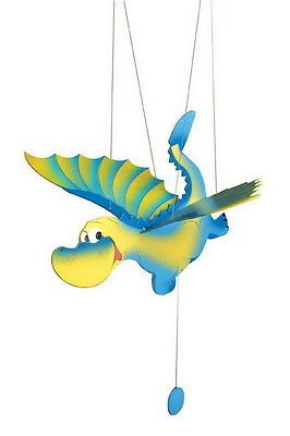 Details About Wooden Toy Hanging Flying Flapping Seagull Parrot