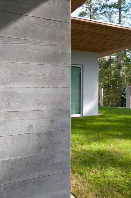 Houzz Tour See A Concrete House With A 0 Energy Bill Concrete House Concrete Wall Backyard Fences