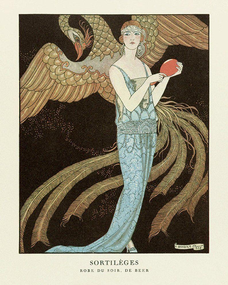 Art Deco Art Print Fashion Art Vintage Fashion Poster French Etsy Art Deco Print Art Deco Illustration Art