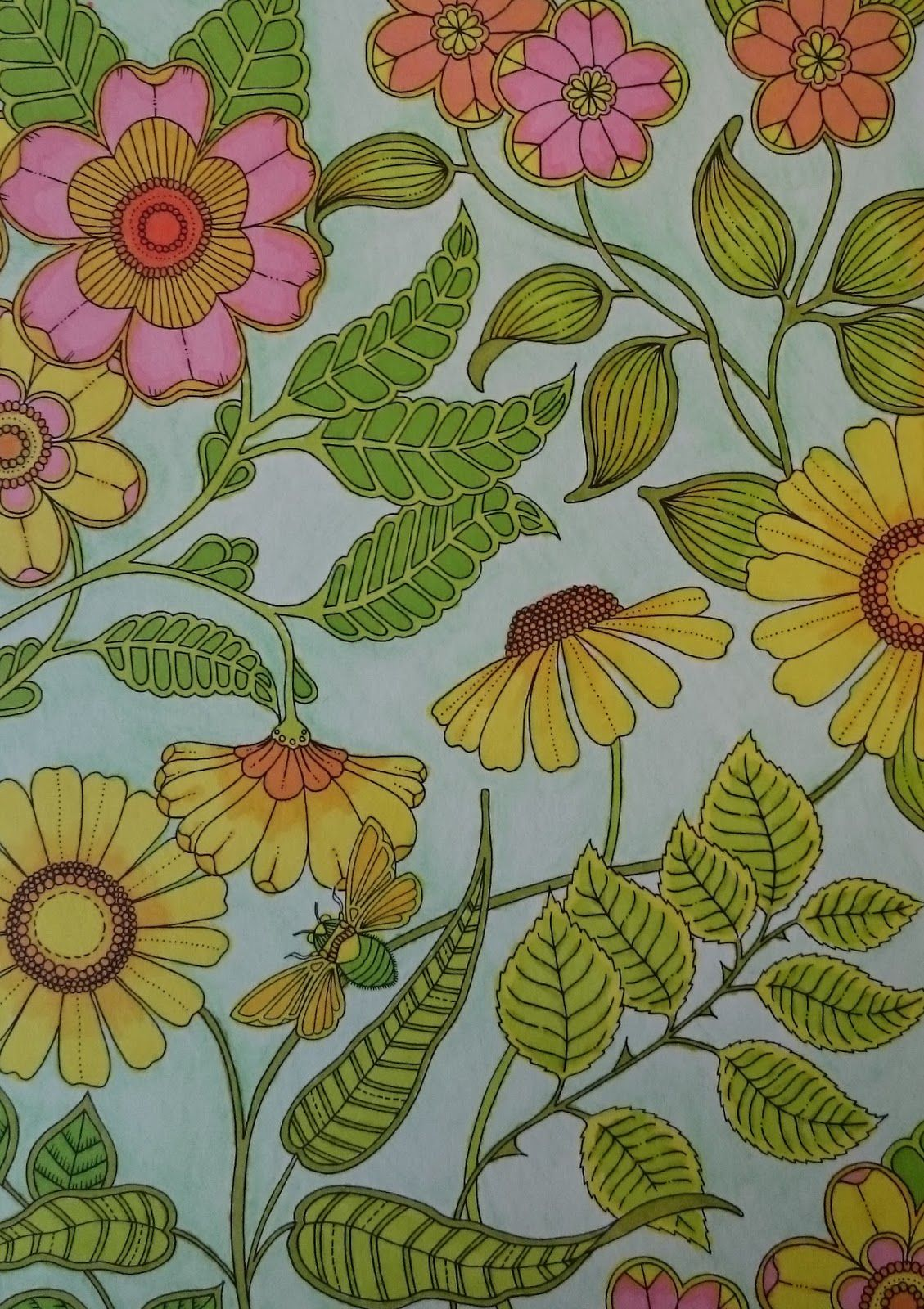 The Secret Garden Coloring Book Completed Google Search