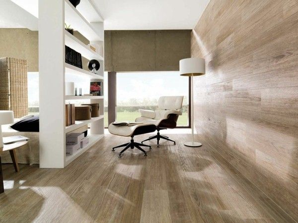 Wohnzimmer-Gestaltung-Holzoptik-Fliesen Design Pinterest