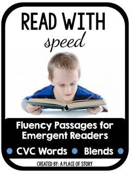 Build fluency with this packet of 29 fluency paragraphs. Included in this packet are 29 pages of fluency passages. Each passage includes short vowels and high frequency words. Towards the end of the packet, some of the passages also include blends.