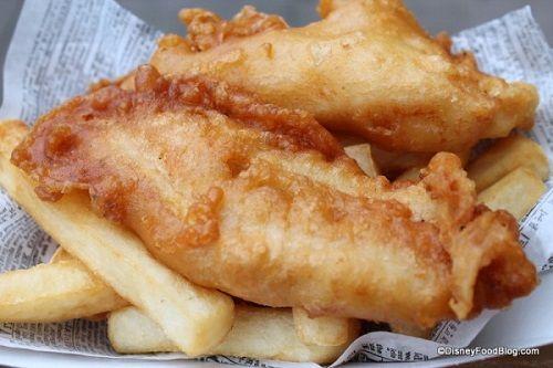 Fish and chips at Yorkshire County Fish Shop