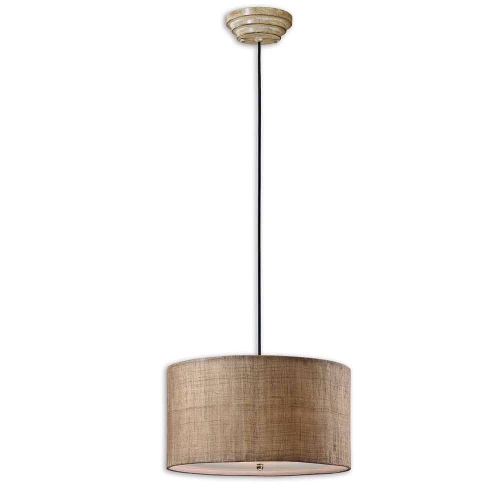 Overstock Pendant Lights Entrancing Dafina 3Light Burlap Weave Drum Pendant  Overstock Shopping Design Ideas