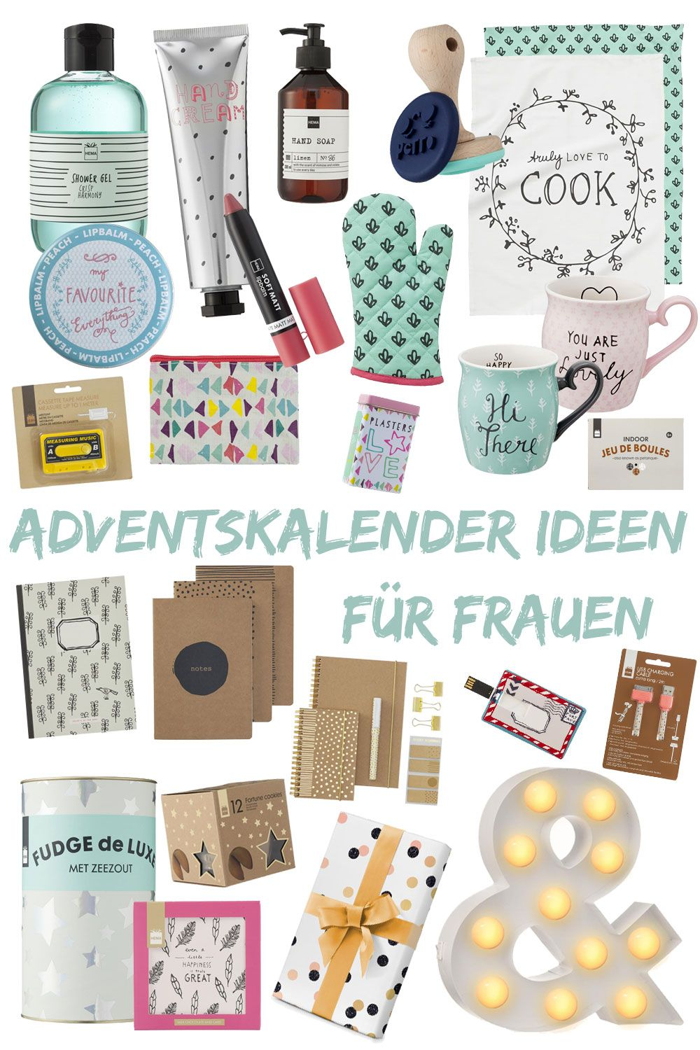 adventskalender bef llen ideen f r frauen diy. Black Bedroom Furniture Sets. Home Design Ideas