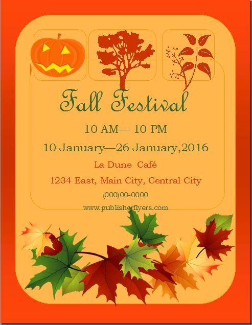 Free Printable Fall Festival Flyer Templates Di 2020